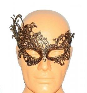 Koronkowa złota opaska - maska na oczy
