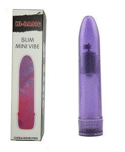 HI-BASIC Slim Mini Vibe klasyczny purpurowy wibrator