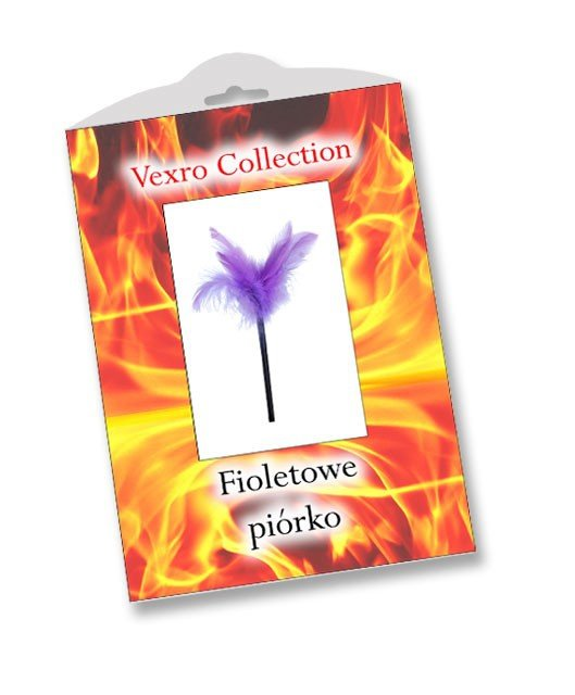 Fioletowe piórko Vexro opakowanie