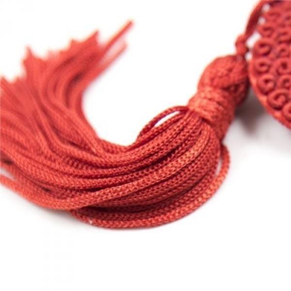 Nakładki na sutki SERCA czerwone nasutniki z pomponikami