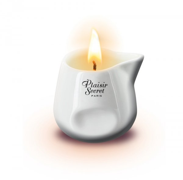 Plaisir Secret Red Wood Sekwoja świeczka olejek do masażu