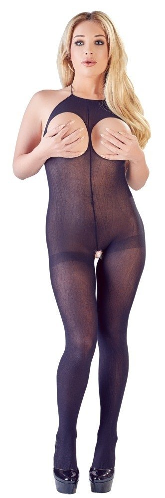 Bodystocking Catsuit Ouvert Black front