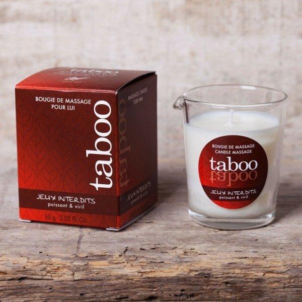 Taboo puissant&viril świeczka do masażu o zapachu zabronionej gry dla Niego