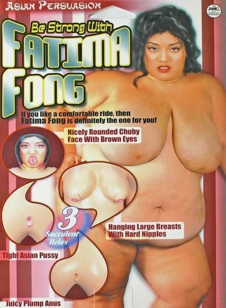Gruba lalka miłości Fatima Fong tył