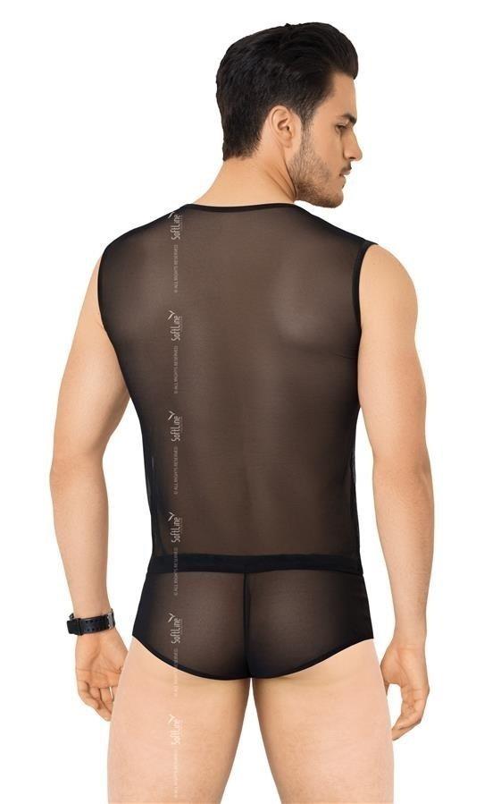 Erotyczny komplet Shirt&Shorts Y tył