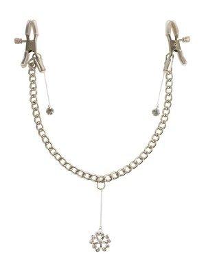 Crystal Nipple Clamps łańcuszek z zaciskami na sutki i kryształkami