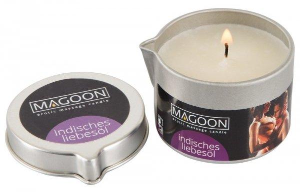 Zapalona świeczka olejek do masażu Magoon Indisches