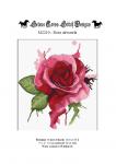 wzór do haftu M2210 - Róża akwarela