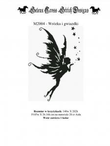 Wzór do haftu M2004- Wróżka i gwiazdki