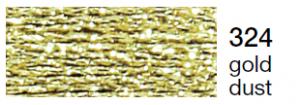 mulina Madeira Metalic perle 10 -gold dust  324