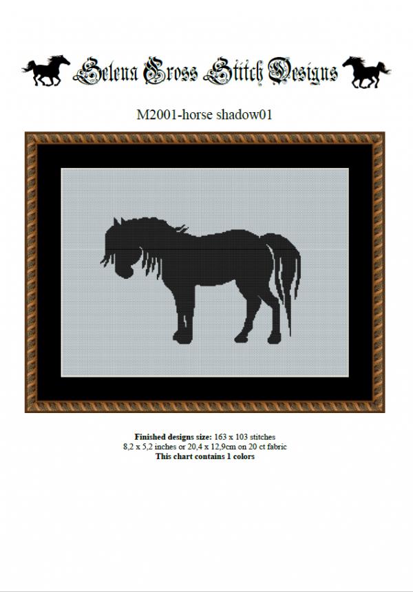 Wzór do haftu M2001 - horse shadow01