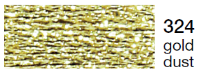 Metalic perle 10 -gold dust  324