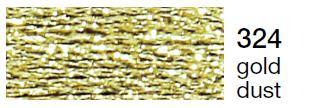 Metalic perle 10 -gold dust  324