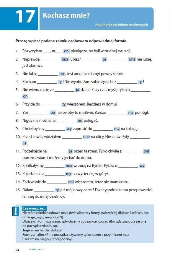 Testuj swój polski. Gramatyka 2
