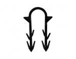 Spinki do ogrzewania podłogowego długie - 100 szt