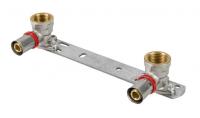 Pex zacisk listwa montażowa z kolankami 16x1/2gw 100mm