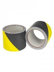 Taśma ostrzegawcza żółto-czarna 8cm x 100m
