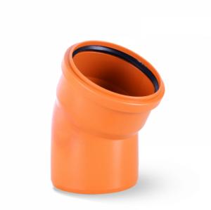 Kolano PCV 110 kąt 30 stopni kanalizacyjne pomarańczowe