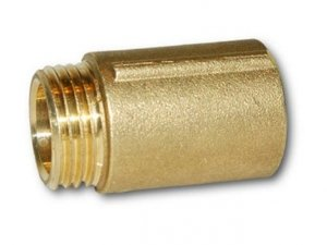 Przedłużka mosiężna 1 cal 15mm 1,5cm