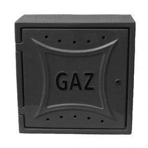 Szafka gazowa naścienna 250x300x150 grafitowa