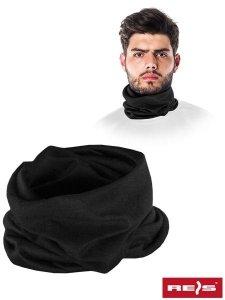 Maseczka-komin czarny elastyczny materiał
