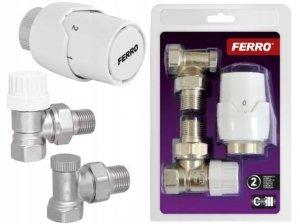 Ferro zestaw termostatyczny wersja kątowa ZTM21