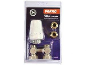 Ferro VK zestaw termostatyczny prosty do grzejnika