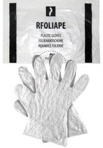 Rękawice ochronne wykonane z folii 100 sztuk