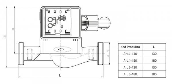 Pompa elektroniczna RS 25/60 180