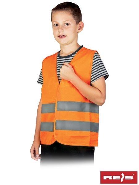 Kamizelka ostrzegawcza dziecięca pomarańczowa S