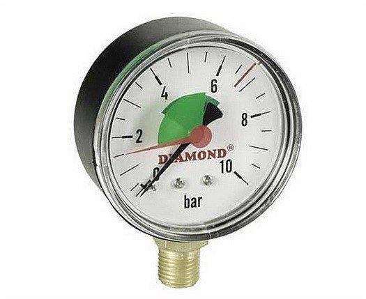 Manometr tarczowy radialny 63mm do 10 bar