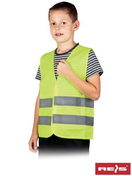 Kamizelka ostrzegawcza dziecięca żółta S
