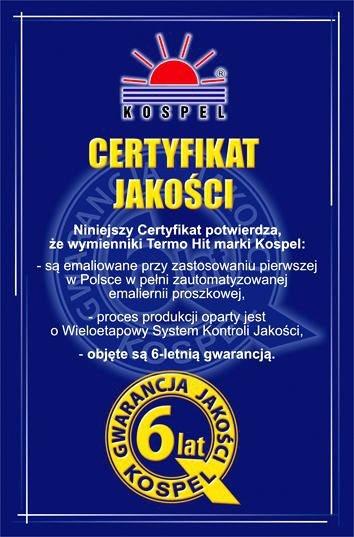 Wymiennik WW80 Podgrzewacz / Bojler z podwójną wężownicą KOSPEL 80l