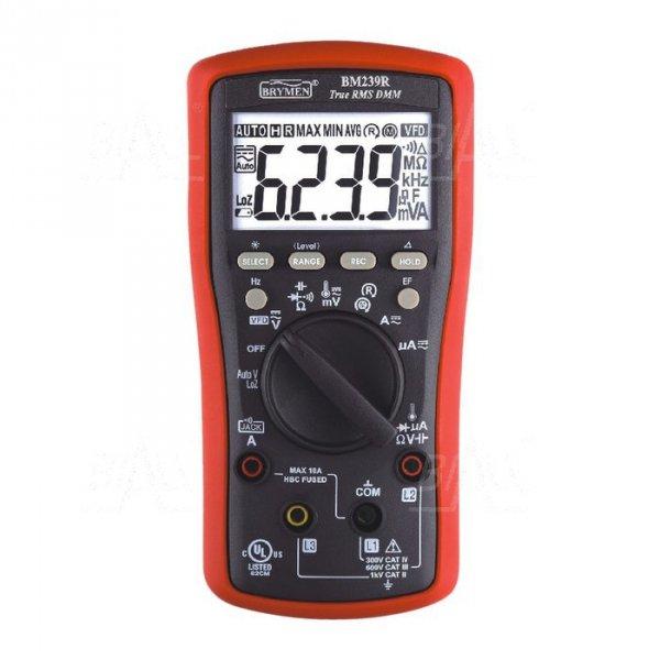 BM239R Multimetr TRMS (AC+DC) VFD EF 50kHz Temp test wirowania faz Brymen