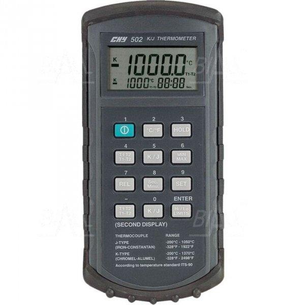 CHY502 Termometr 2 kanały kl 0,05% -20 do 1370°C typ K