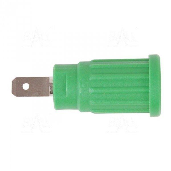 Gniazdo panelowe bezp. 4mm wcisk. SEPB1773-GN 24A CATII 1,5kV zielony