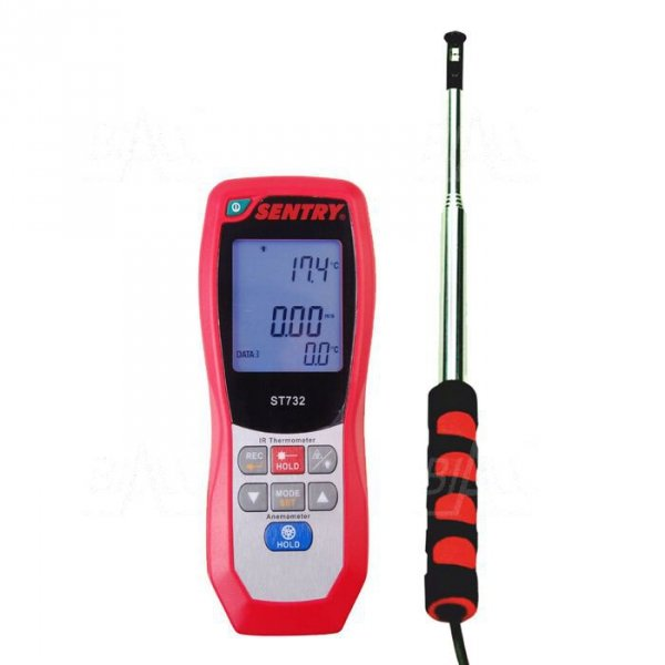 ST732 Anemometr HOT-WIRE i pirometr,temp,USB SENTRY