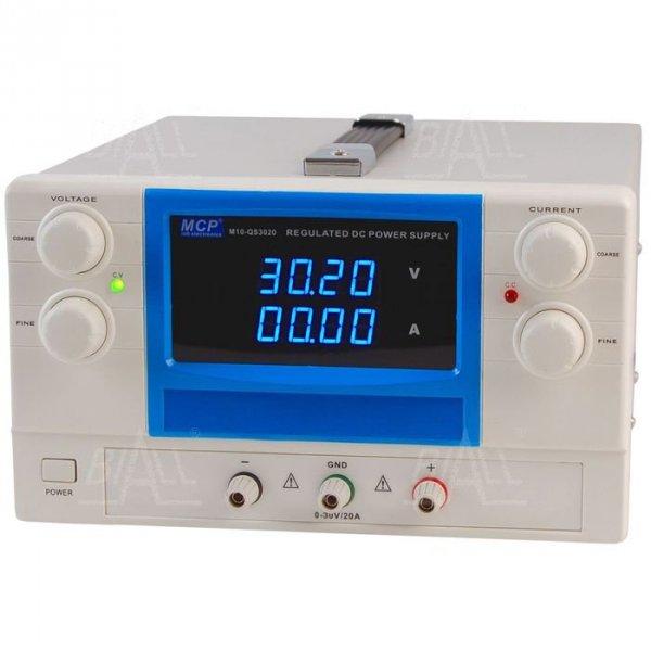 Zasilacz lab QS3020 DC 30V/20A do pracy ciągłej MCP