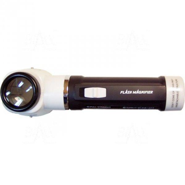 Lupa ręczna podświetl. M100 30mm/10x   z podziałką skala 0.5mm