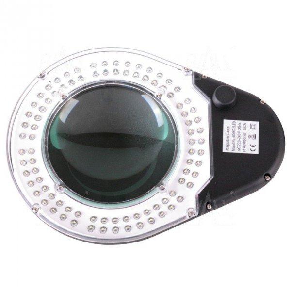 Lampa warsztatowa ESD LED z lupą(127mm) 8066D2 5D 8W