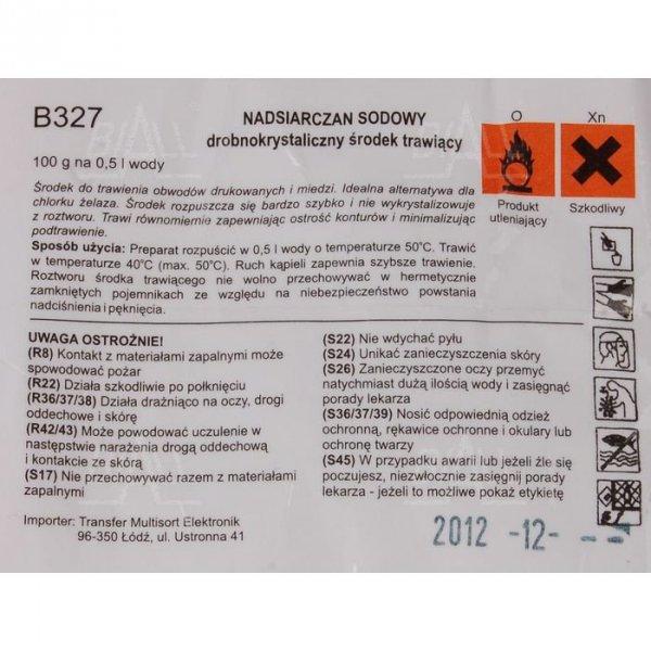 B327/100g Drobnokrystaliczny środek trawiący