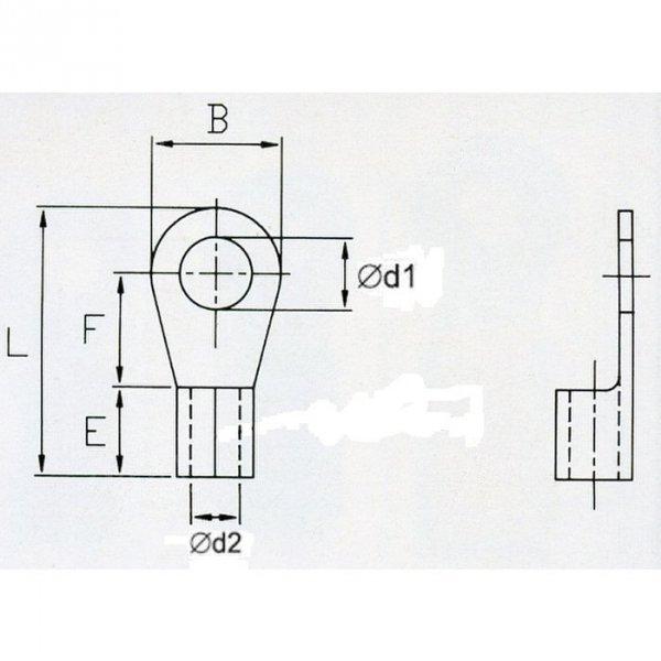 KON5-10 Końc. oczkowa nieizol. 4-6mm2/M10 100szt