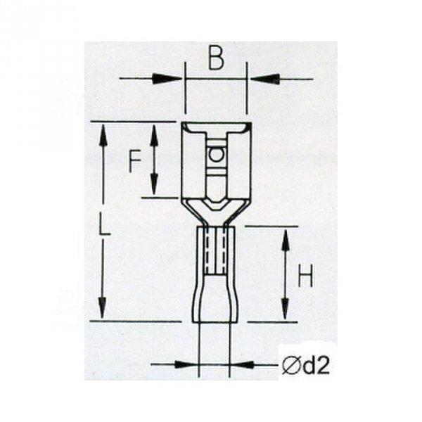 KFY63x08 Konektor żeński izolowany 100szt
