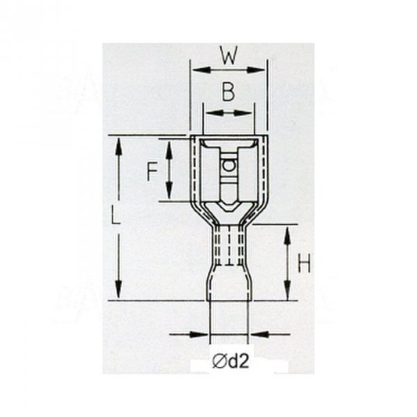 KFIB48X08 Konektor żeński izolowany 100szt