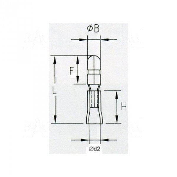 KMOY5 Konektor okrągły izol. męski 5mm 100szt