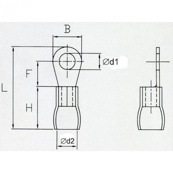 OKR3 Końcówka oczkowa izol. M3 100szt