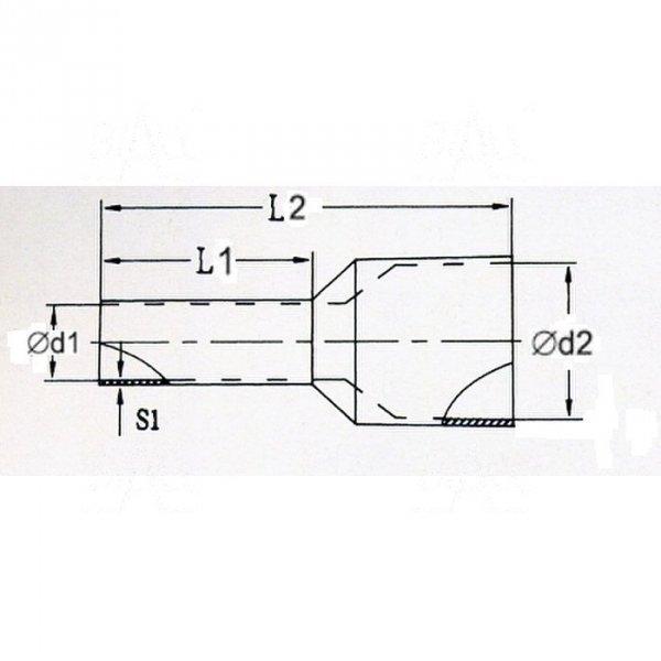 KR002508 LB Tulejka izolow. 0,25mm2x8    100szt