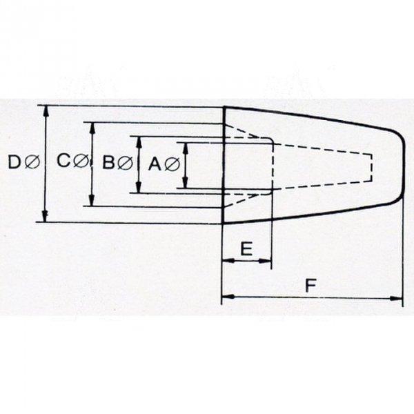 ZKN-5.2 złączka nakręcana  śr. 5,2mm  100szt