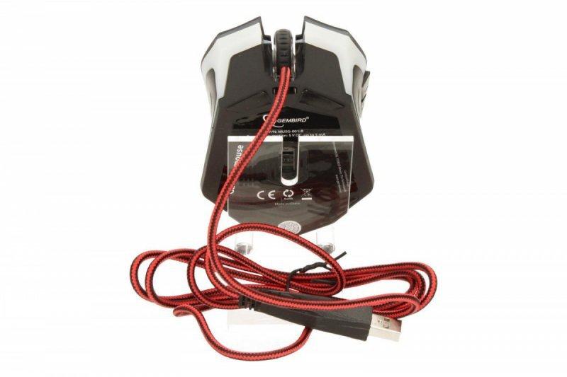 Gembird Mysz dla graczy MUSG-001-R 2400DPI