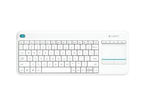 Logitech K400 Plus Wireless Touch Keyboard Biała